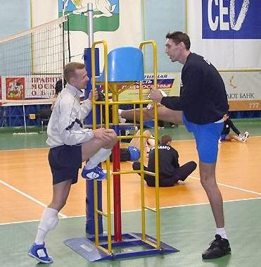 Станислав Динейкин 215 см и Алексей Вербов 183 см