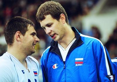 Алексей Казаков 217 см и Андрей Егорчев 206 см