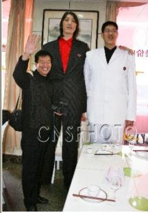 Хуан Чан-Чу 231 см и Ван Тонсин 223 см