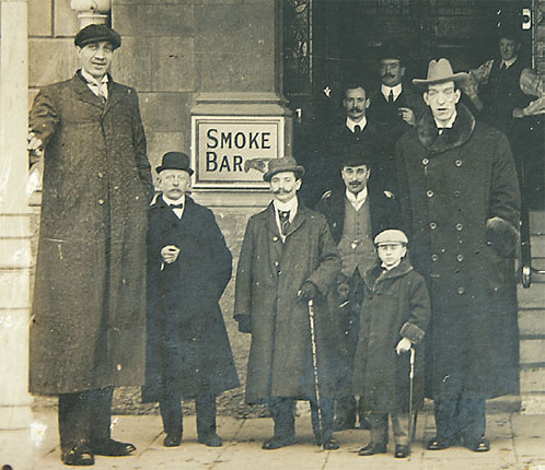 Фёдор Махнов и Джордж Огер 226 см в 1906 году