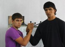 tallest boxer Mirodjiddin Karimov - 7 feet 1.8 inc